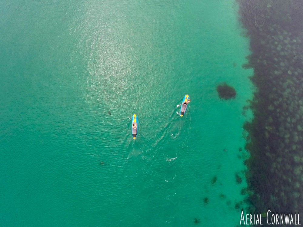 SUPs by Aerial Cornwall