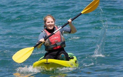 Kayaking at Coverack