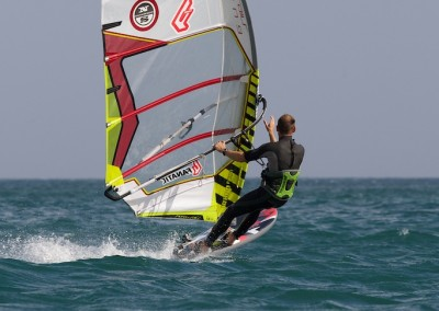 Windsurfing at Coverack